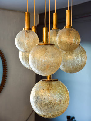 Vintage Italian chandelier with seven glass balls
