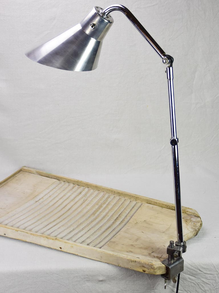 Original KI E KLAIR articulated industrial clamp lamp