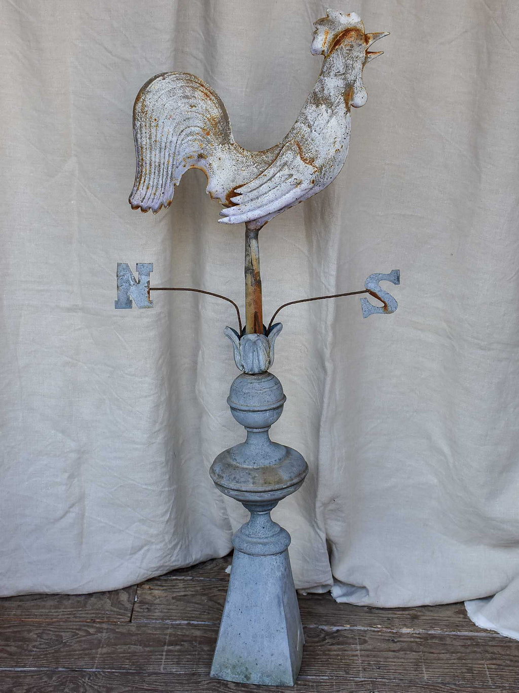 Late 19th Century French weather vane with rooster