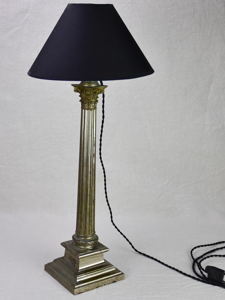 Louis XVI style lamp with doric column base
