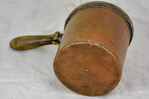 19th Century French copper measuring cup