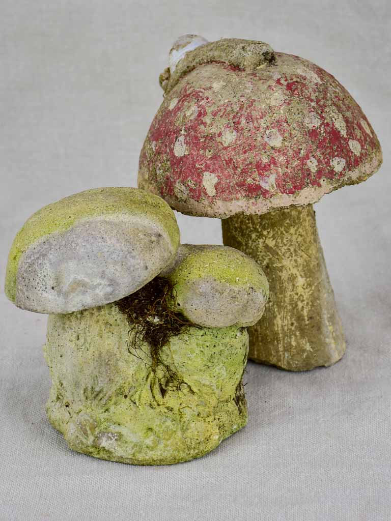 Early 20th Century cement mushrooms