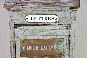 Early 20th Century French letter box with blue / gray patina