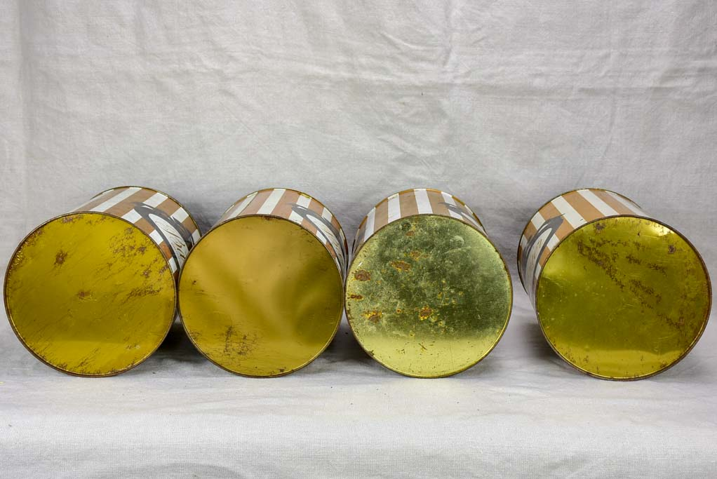 Set of four mid-century Barnier lolly tins 11""