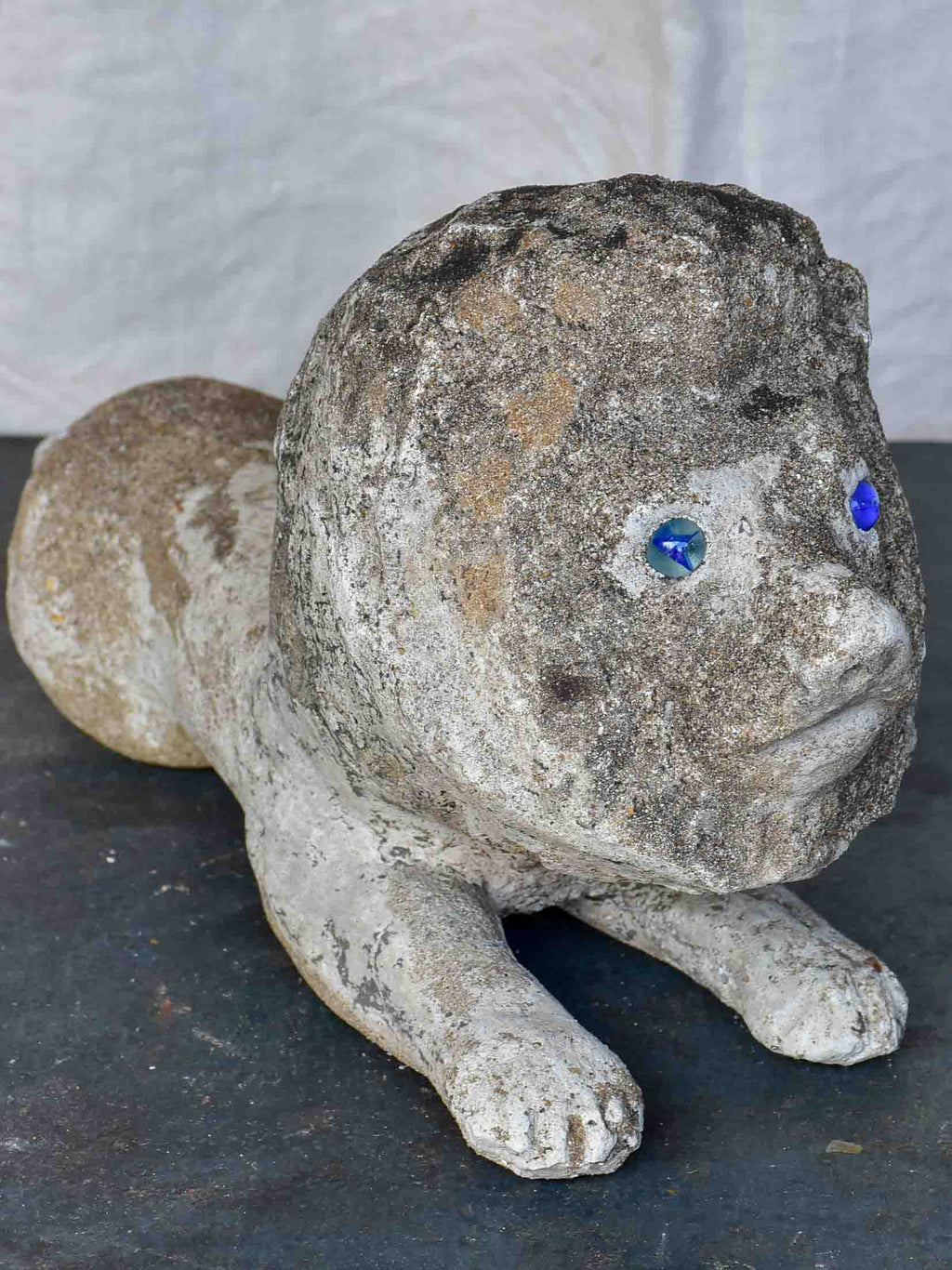 Mid-Century French garden sculpture of a lion
