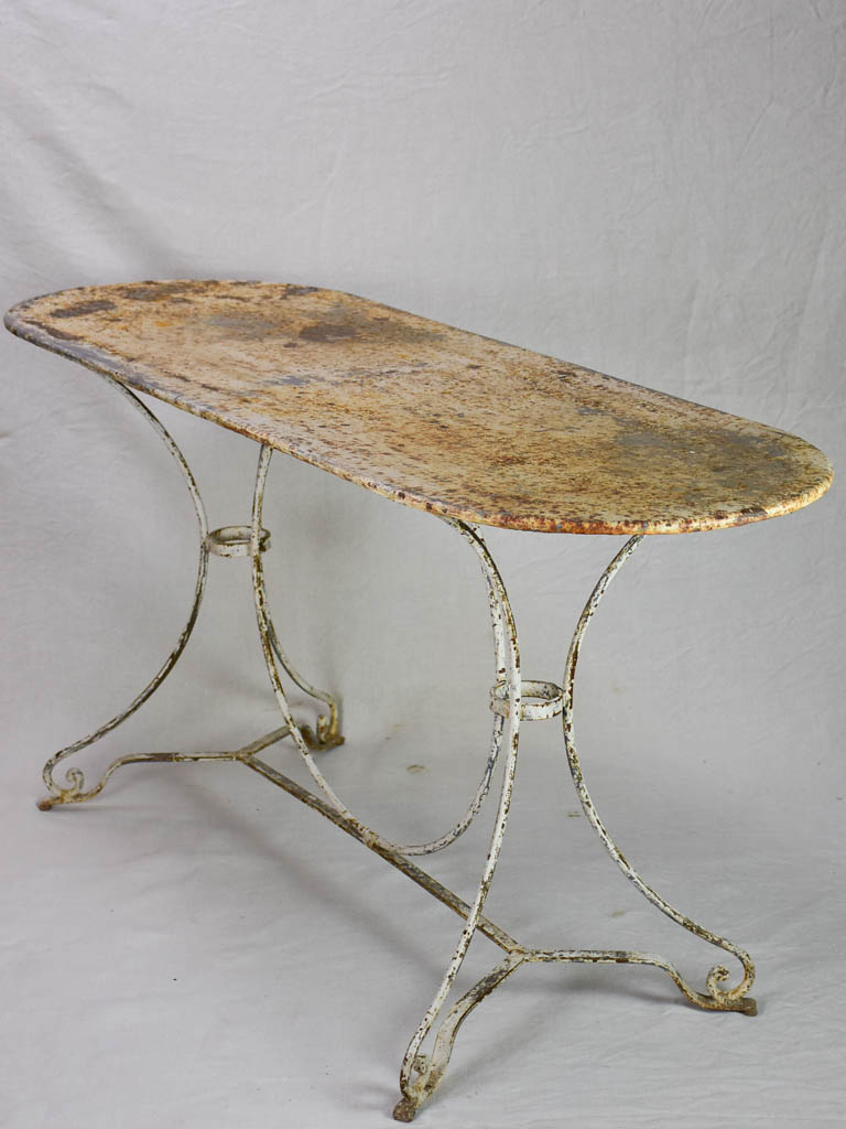 Rare double metal garden table from the 1950's