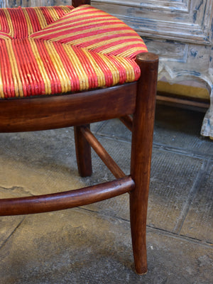 Set of 6 'Directoire' chairs with cane seats