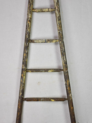19th century French harvest ladder with broad base and narrow top 92¼""