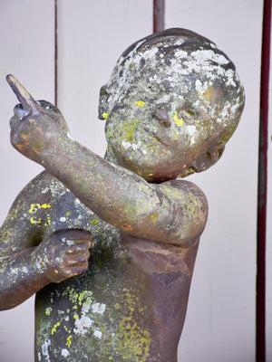 19th Century French garden statue of a child