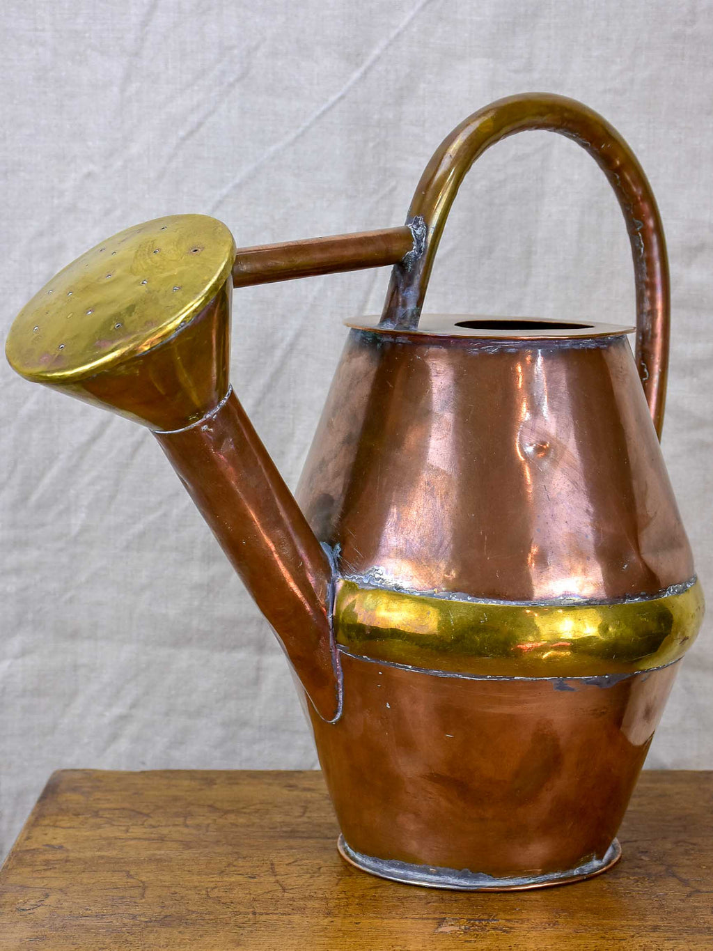 Small antique French copper watering can