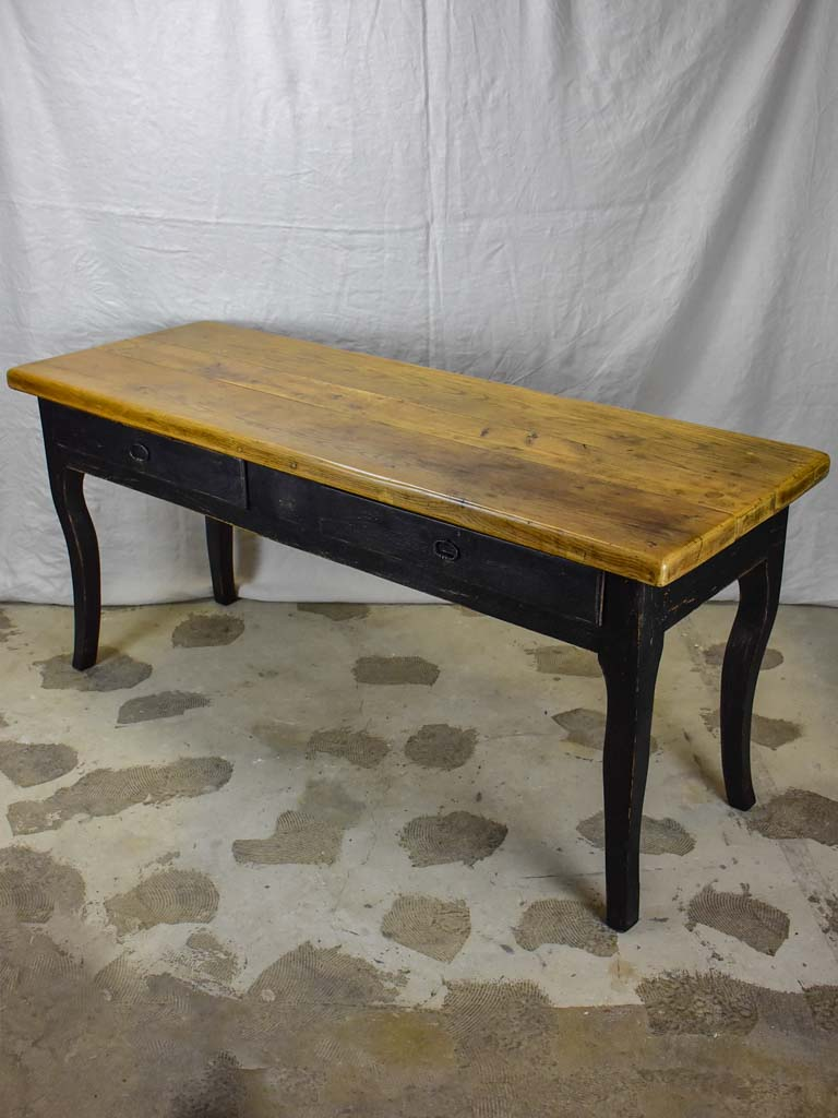 Antique French Louis XV style console table - solid oak