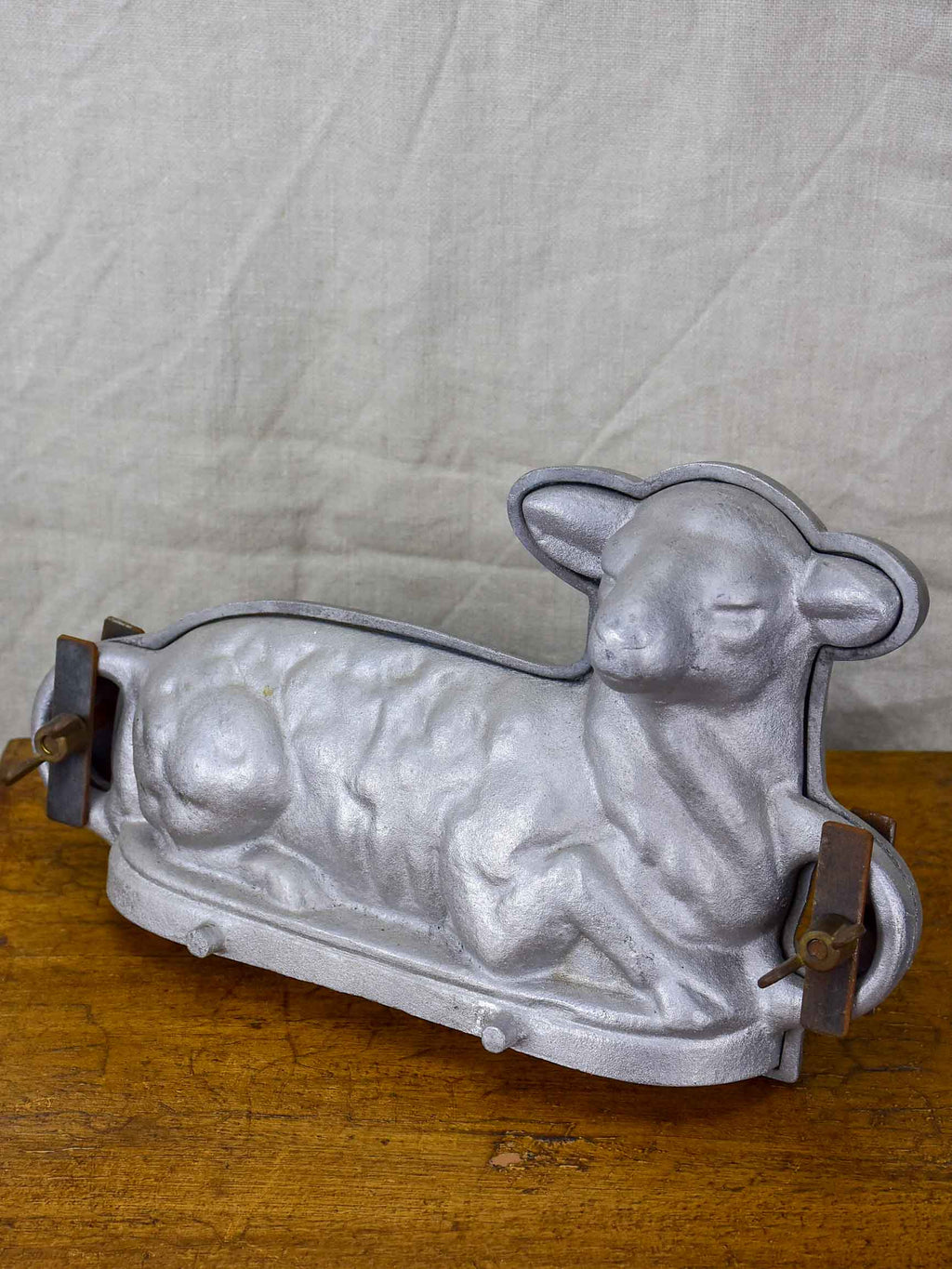 Vintage French terrine mold in the form of a lamb