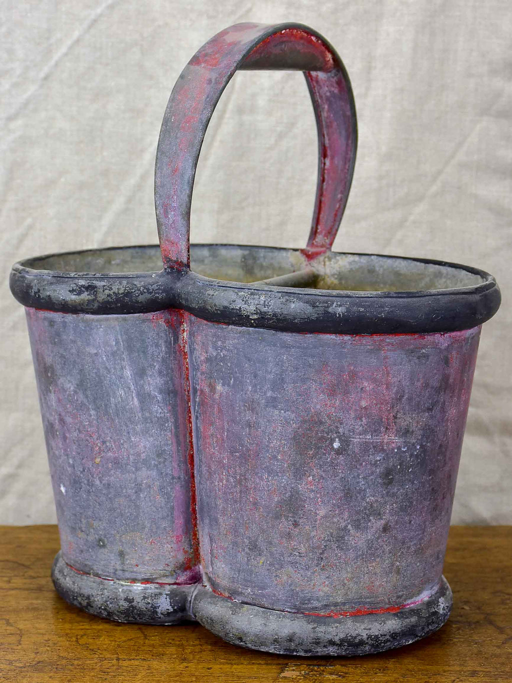 Rustic French bottle carrier