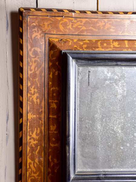 17th Century French square mirror