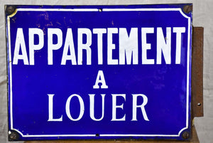 Double sided antique French sign - Appartement à louer