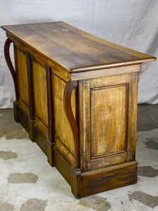 Antique French oak pharmacy counter