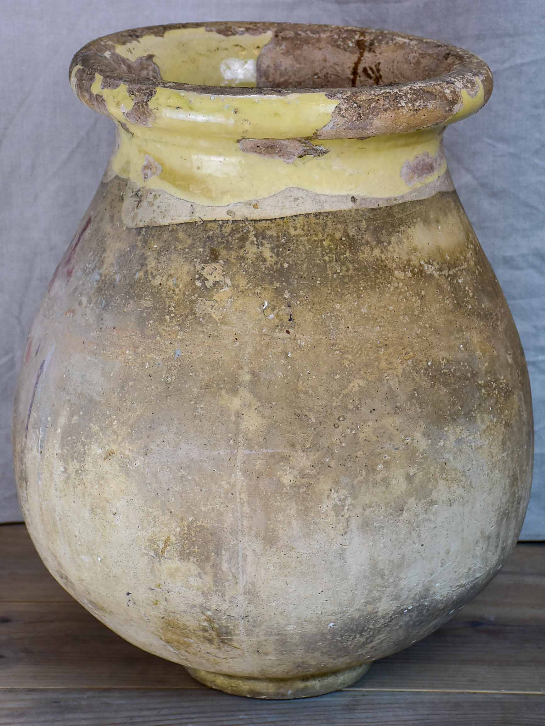 Late 19th Century French Biot oil jar - petite