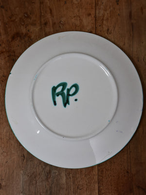 Robert Picault Plate - Green and Blue