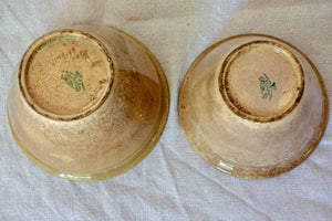 Two antique French earthenware confiture pots - brown