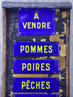 Antique French sign from a fruit shop