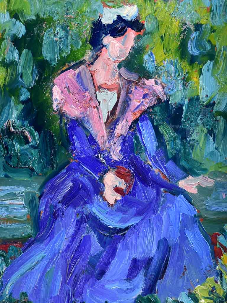 "20th Century oil on card - Portrait of an Arlesian - Anna Costa 15"" x 19"""