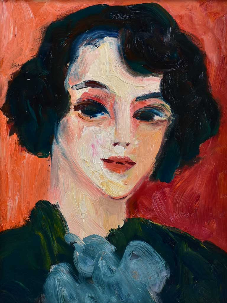 "20th Century oil on board - Portrait of a lady - Anna Costa 21¼"" x 25¼"""