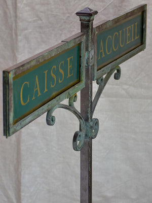 Antique French sign from a boutique - CAISSE / ACCUEIL