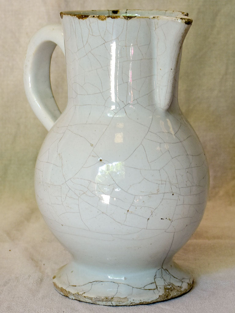 Rustic earthenware Century oil pitcher - 19th Century Huile #3
