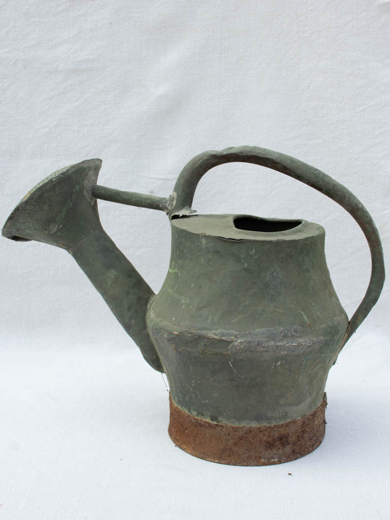 Rustic 18th century French watering can - copper