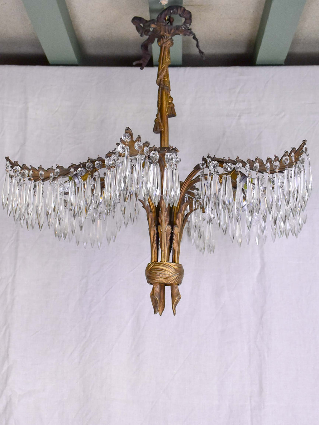 An antique palm chandelier - style Josef Hoffmann