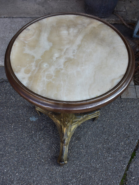 Art Nouveau French round bistro table