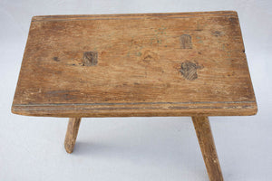 RESERVED Primitive milking stool with three legs