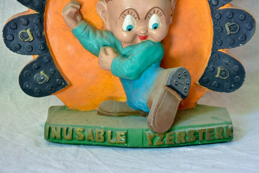 1970's plaster advertising display - rubber shoe soles Yosza