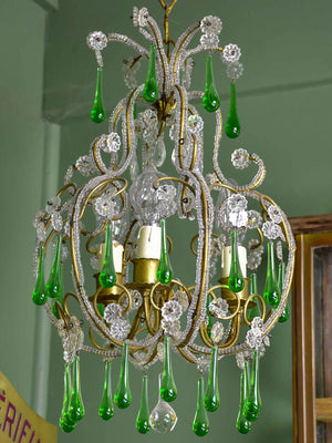 Vintage French beaded chandelier