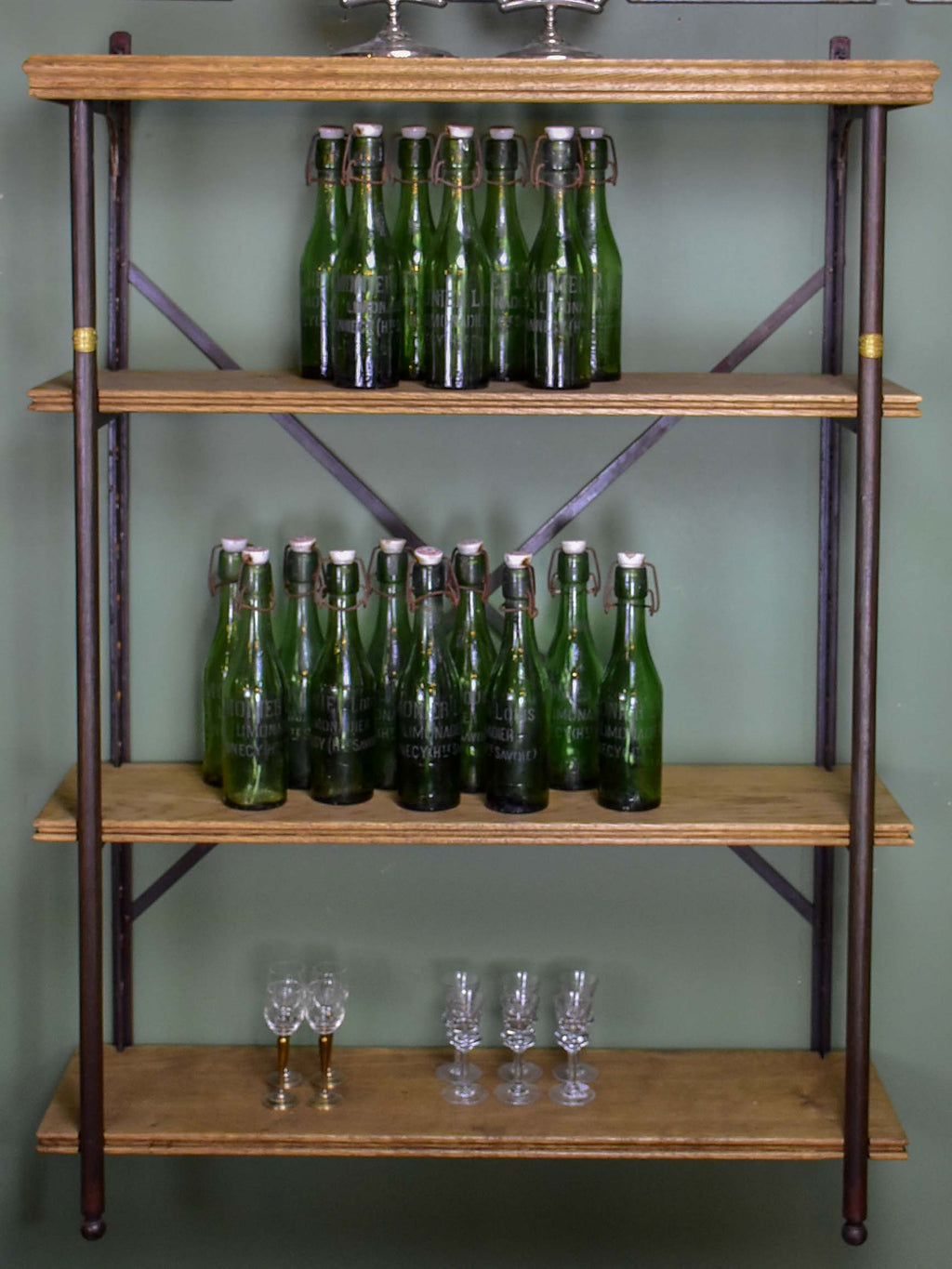 Antique French industrial shelving unit - Theodor Scherf, Paris
