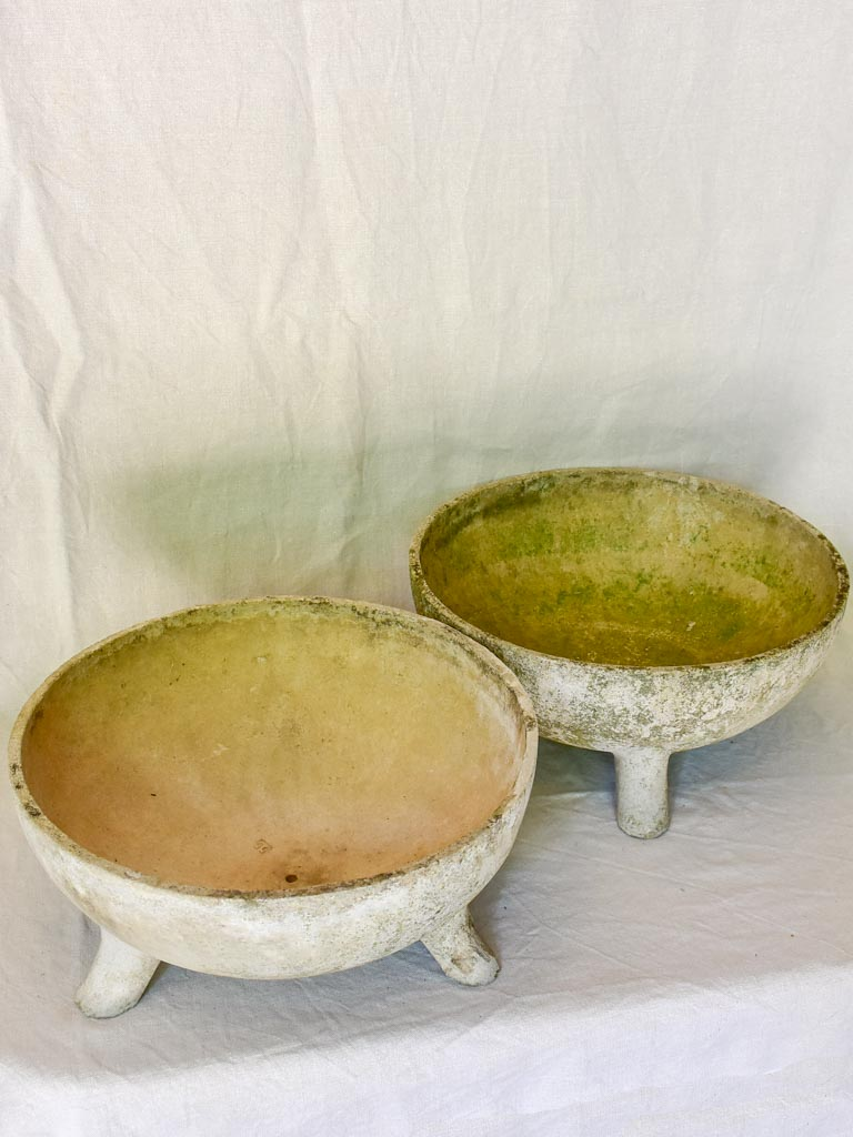 Pair of Willy Guhl cup shaped planters 19""