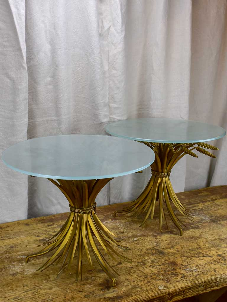 Pair of mid century wheatsheaf coffee tables - Coco Chanel