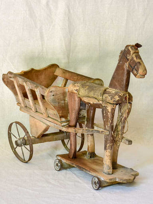 19th Century French toy horse and cart