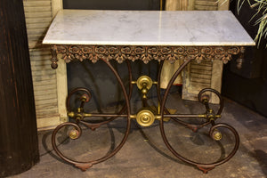 French marble top butcher's table