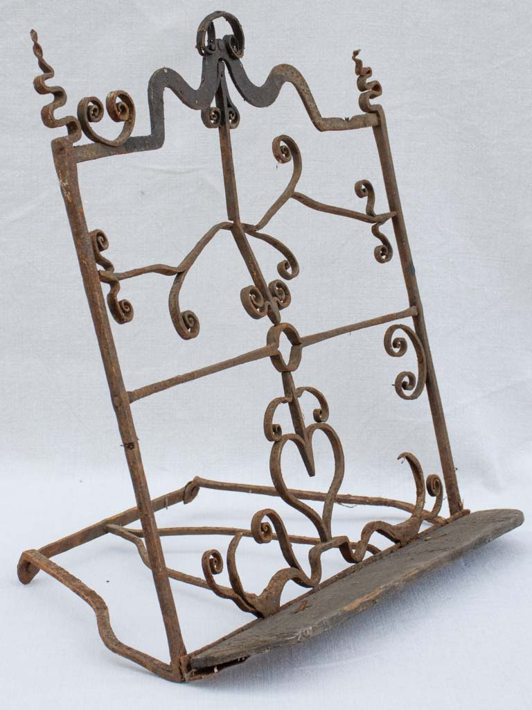 17th century French bible lectern - wrought iron