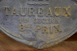 Antique French prize for a bull - 1924