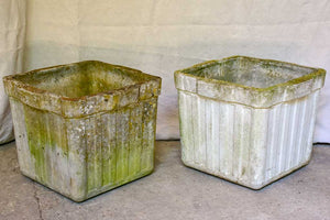 Set of four square Willy Guhl garden planters - 1950's