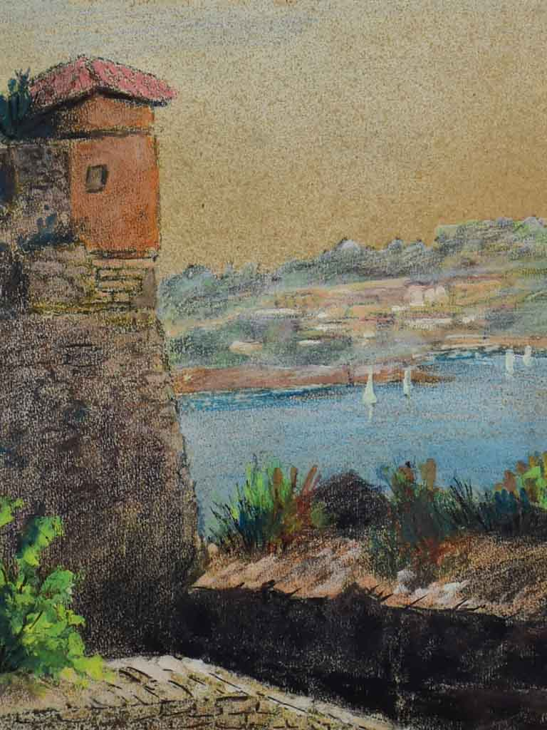 "1966 pastel - coastal landscape - anonymous 16¼"" x 18½"""