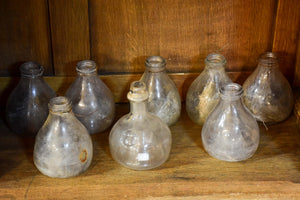 Collection of 5 antique French fly trap bottles