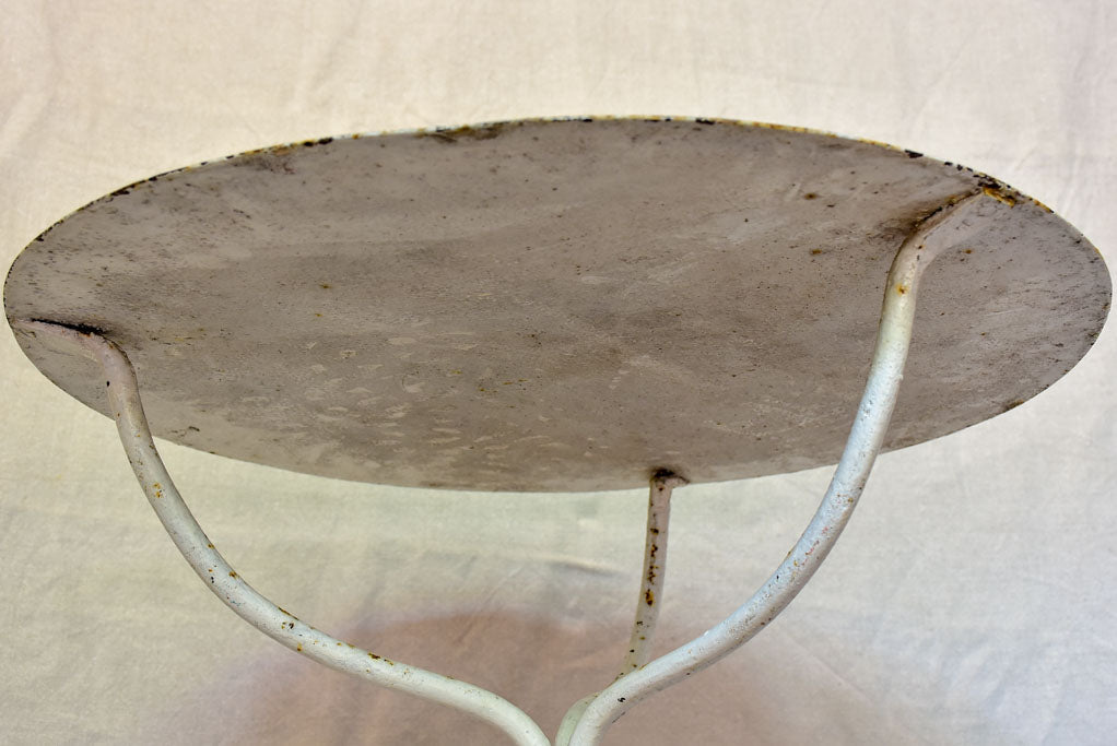 Early 20th Century French garden table with white patina