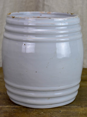 Large antique French preserving pot - Graisse