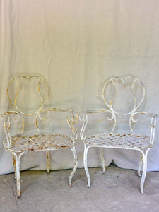 RESERVED MDD Pair of whimsical French garden armchairs