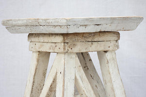 Mid 20th century French sculptor's table with white patina