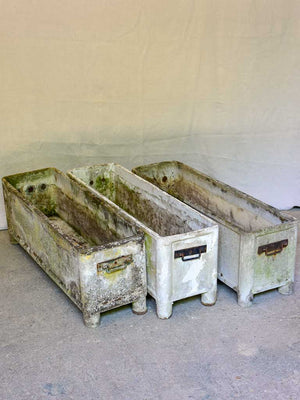 TWO large rectangular garden planters - Chanal
