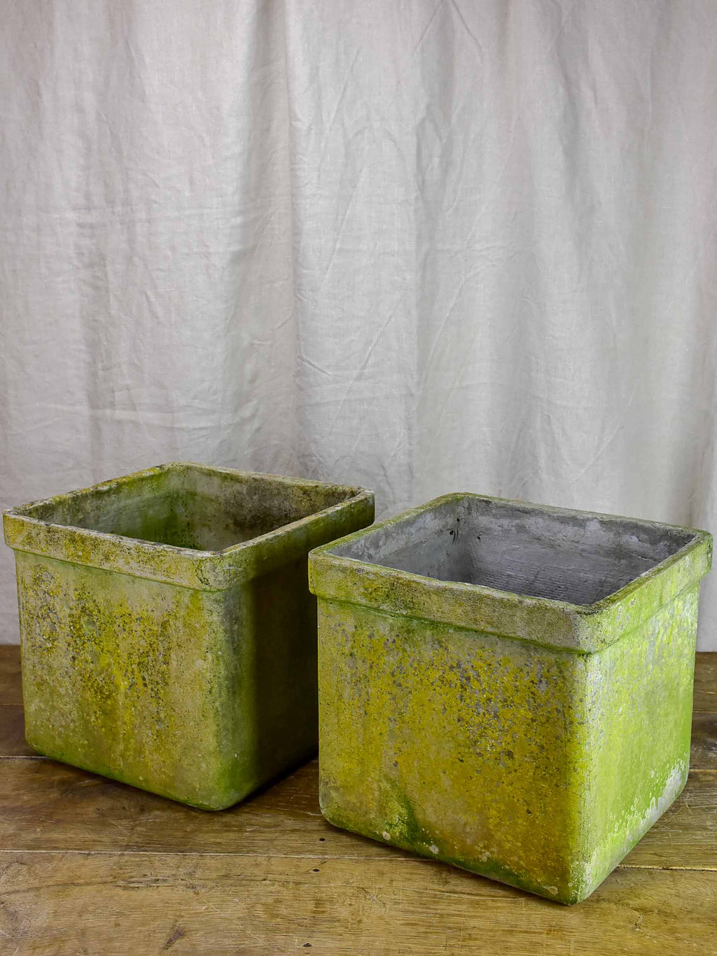 Pair of square Willy Guhl garden planters